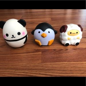 🐼Adorable Squishies - Panda, Sheep, Penguin